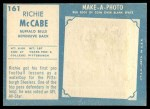 1961 Topps #161  Rich McCabe  Back Thumbnail