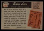 1955 Bowman #240  Billy Loes  Back Thumbnail