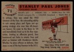 1956 Topps #71  Stan Jones  Back Thumbnail