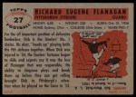 1956 Topps #27  Dick Flanagan  Back Thumbnail