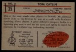 1953 Bowman #35  Tom Catlin  Back Thumbnail