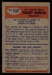 1955 Bowman #157  Volney Quinlan  Back Thumbnail