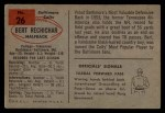 1954 Bowman #26  Bert Rechichar  Back Thumbnail