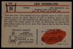 1953 Bowman #88  Leo Nomellini  Back Thumbnail