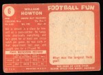 1958 Topps #6  Bill Howton  Back Thumbnail