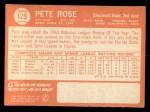 1964 Topps #125  Pete Rose  Back Thumbnail