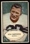 1953 Bowman #92  Ken Carpenter  Front Thumbnail