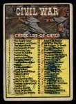 1962 Topps Civil War News #88   Checklist Front Thumbnail