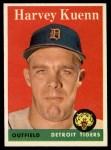 1958 Topps #434  Harvey Kuenn  Front Thumbnail