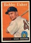 1958 Topps #124  Bobby Usher  Front Thumbnail