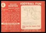 1958 Topps #6  Bill Howton  Back Thumbnail