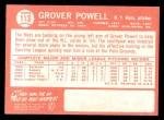 1964 Topps #113  Grover Powell  Back Thumbnail