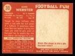 1958 Topps #30  Alex Webster  Back Thumbnail