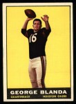 1961 Topps #145  George Blanda  Front Thumbnail