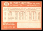 1964 Topps #144  Al Worthington  Back Thumbnail