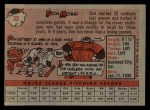 1958 Topps #35 WT Don Mossi  Back Thumbnail