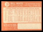 1964 Topps #240  Bill White  Back Thumbnail