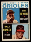 1964 Topps #201   -  Wally Bunker / Sam Bowens Orioles Rookies Front Thumbnail