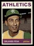1964 Topps #124  Orlando Pena  Front Thumbnail