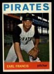 1964 Topps #117  Earl Francis  Front Thumbnail