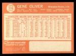 1964 Topps #316  Gene Oliver  Back Thumbnail