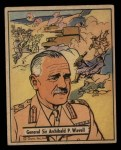 1941 Gum Inc. War Gum #21   General Sir Archibald P. Wavell Front Thumbnail