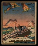 1941 Gum Inc. War Gum #41   Torpedo Boats Attack Japanese Bombers Front Thumbnail