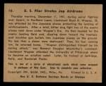 1941 Gum Inc. War Gum #16   U.S. Flier Strafes Japanese Airdrome Back Thumbnail