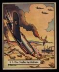 1941 Gum Inc. War Gum #16   U.S. Flier Strafes Japanese Airdrome Front Thumbnail