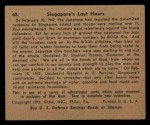 1941 Gum Inc. War Gum #48   Singapore's Last Hours Back Thumbnail