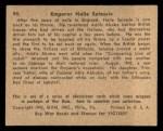 1941 Gum Inc. War Gum #99   Emperor Haile Selassie Back Thumbnail