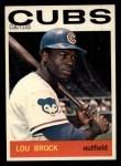 1964 Topps #29  Lou Brock  Front Thumbnail
