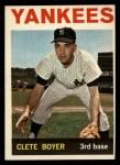 1964 Topps #69  Clete Boyer  Front Thumbnail