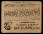 1940 Gum Inc. Superman #36   Facing the Firing Squad Back Thumbnail