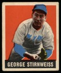 1949 Leaf #95  George Stirnweiss  Front Thumbnail