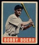 1949 Leaf #83  Bobby Doerr   Front Thumbnail