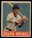 1949 Leaf #86  Ralph Weigel  Front Thumbnail