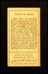 1911 T205 #100  Rube Kroh  Back Thumbnail