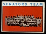 1964 Topps #343   Senators Team Front Thumbnail