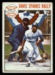 1964 Topps #137   1963 World Series - Game #2 - Davis Sparks Rally - Willie Davis Front Thumbnail
