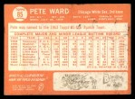 1964 Topps #85  Pete Ward  Back Thumbnail