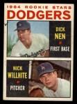 1964 Topps #14   -  Dick Nen / Nick Willhite Dodgers Rookies Front Thumbnail