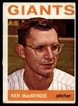 1964 Topps #297  Ken MacKenzie  Front Thumbnail