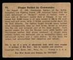 1941 Gum Inc. War Gum #95   Dieppe Raided By Commandos Back Thumbnail