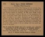 1941 Gum Inc. Uncle Sam Home Defense #119   Civilian Pilot Reserve Back Thumbnail