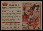 1957 Topps #116  Dick Moegle  Back Thumbnail