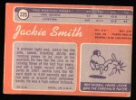 1970 Topps #225  Jackie Smith  Back Thumbnail