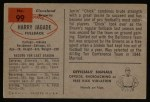 1954 Bowman #99  Harry Jagade  Back Thumbnail