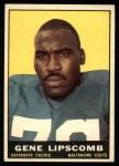 1961 Topps #8  Gene Lipscomb  Front Thumbnail
