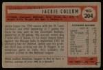 1954 Bowman #204  Jack Collum  Back Thumbnail